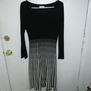 Calvin Klein Black and white dress.